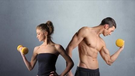 Результаты тренировок разных полов