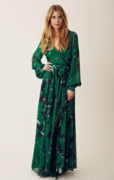 Длинное платье в стиле 70-х
