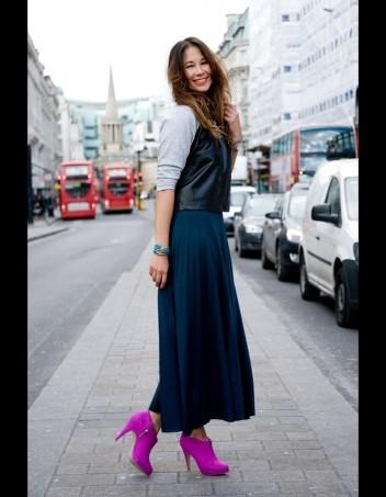 Как носить ботильоны с юбками и платьями4