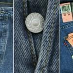 Гармония цветных пуговиц, джинса, значков  и ленточек