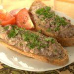 Бутерброды с грибным паштетом