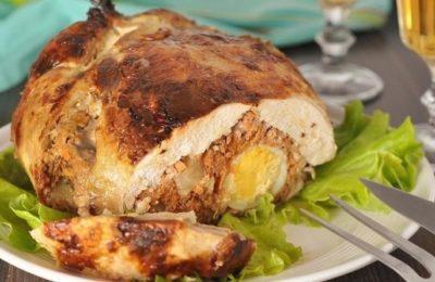 фаршированная курица