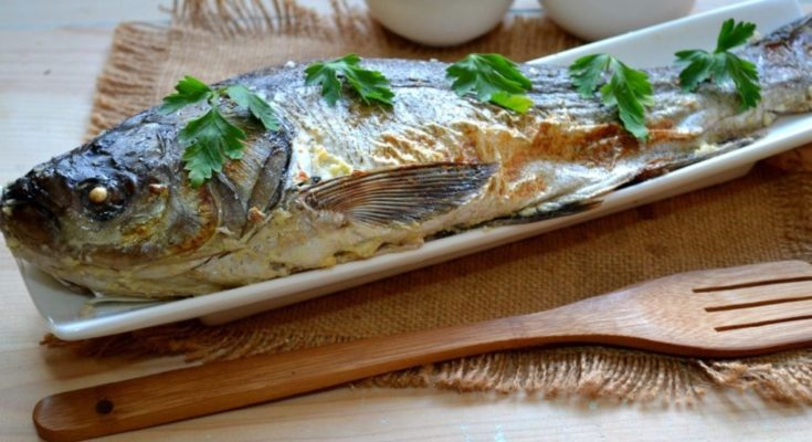 Рыба запеченная