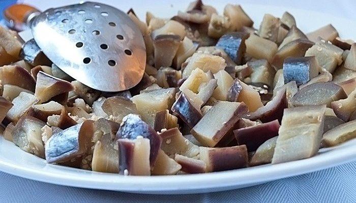 баклажаны с чесноком