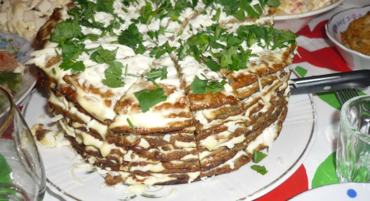 Приготовление торта из печени