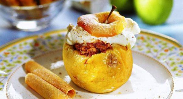 Приготовление фаршированных яблок