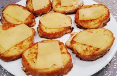Приготовление гренок с сыром
