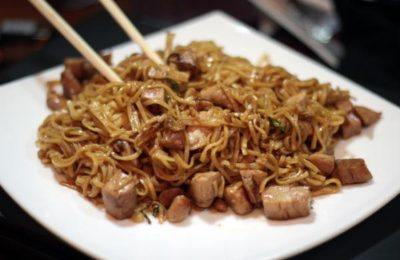 Приготовление лапши по-китайски