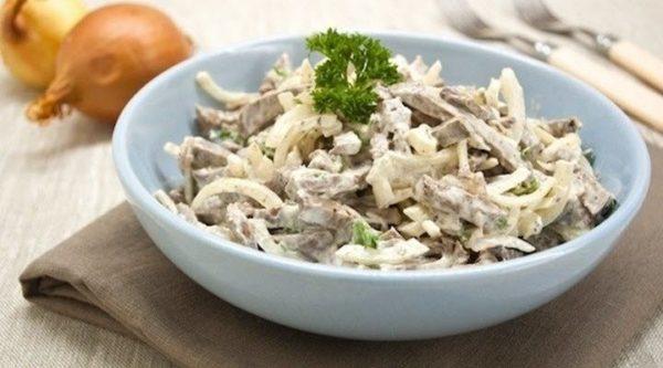 Как приготовить салат из говяжьего сердца