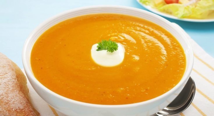 Приготовление супа пюре из тыквы