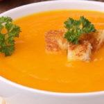 Суп-пюре из тыквы и моркови