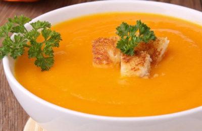 Приготовление супа из тыквы и моркови